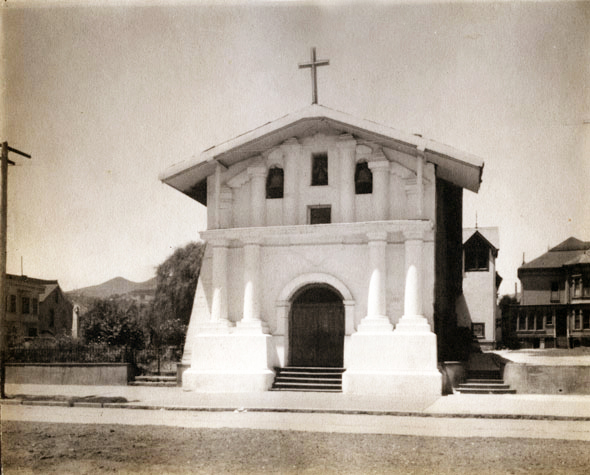 Mision Dolores in San Francisco c. 1900 - attributed