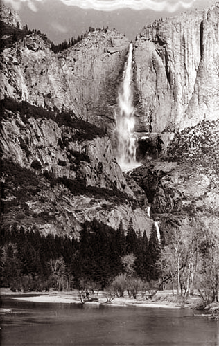 Yosemite Falls, Large format, c. 1960 - Click Image to Close