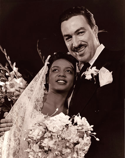 Hazel Scott & Adam Clayton Powell Wedding Pic by Phlippe Halsman