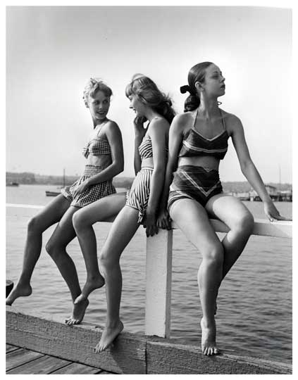 Three Models in Bathing Suits 1944