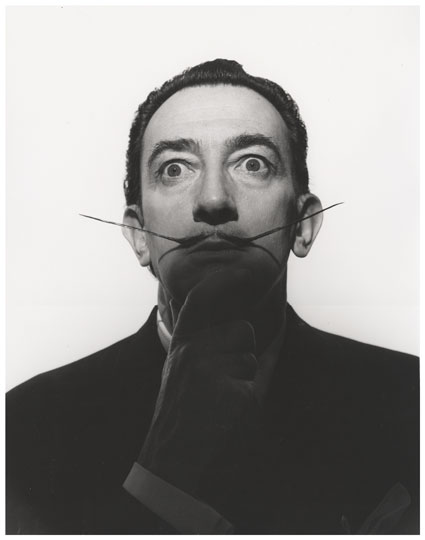 Salvador Dali with Well Waxed Mustache