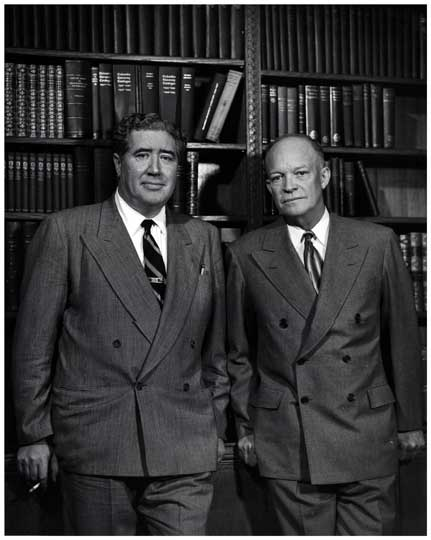 Dwight Eisenhower & John Gunther, Author 1948