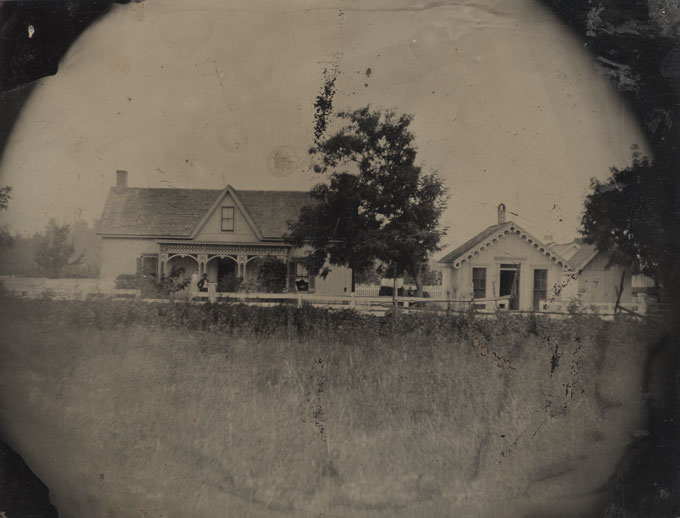 Half Plate Tintype of Homes