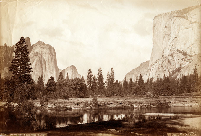 Down Yosemite Valley by Carleton Watkins, Published by Taber