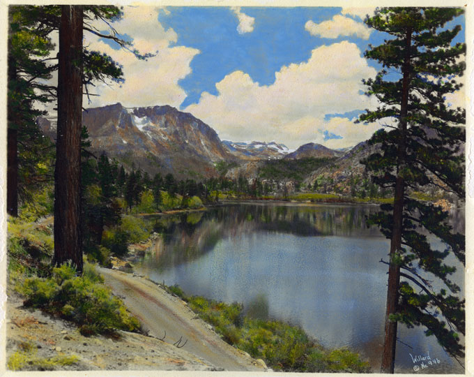 Lake Mary in the High Sierras by Stephen Willard, Tinted
