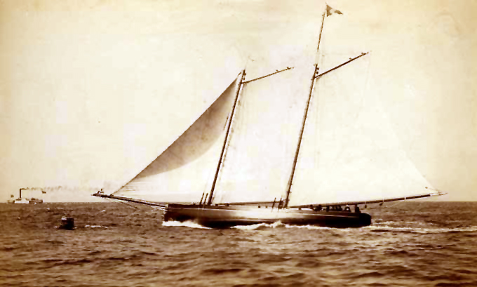 Yacht Casco owned by Samuel Merritt, San Francisco by Taber