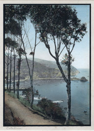 Catalina Shorline, Hand Tinted Silver Print