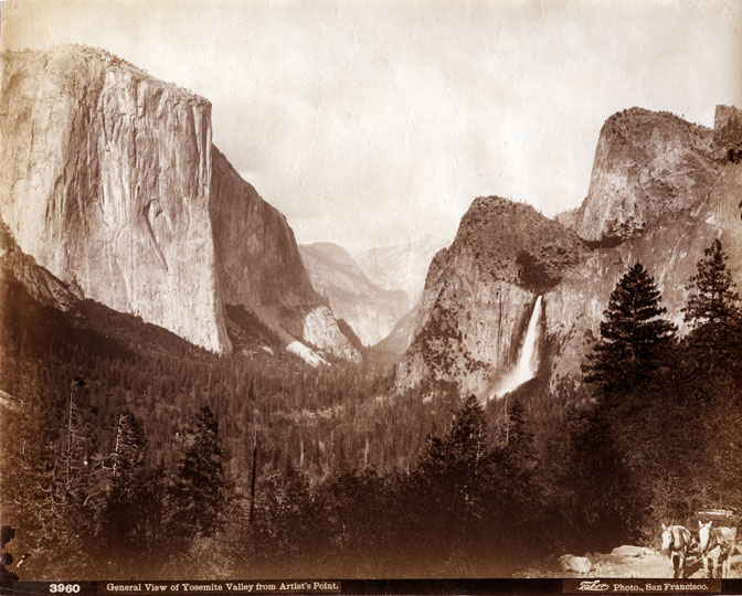 Yosemite Valley from Artist's Point by Watkins