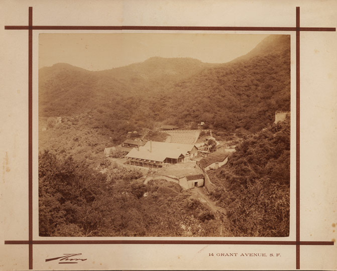 Scarce Albumin Print of a Mine by Thors, San Francisco