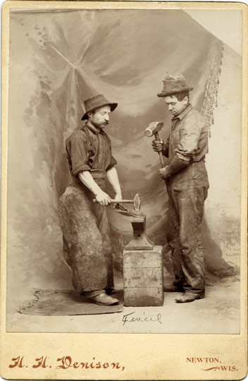 Occupational - Blacksmiths, from Newton, Wisconsin c. 1890